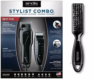 Image Is Loading Andis Stylist Combo 66280 Black Envy Clipper Amp