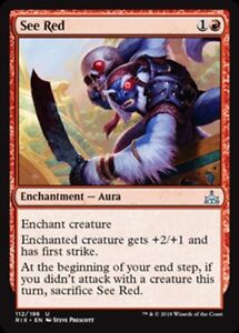 MTG-Magic-U-Rivals-of-Ixalan-See-Red-FOIL-NM-M
