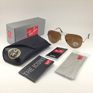 5ed56d2692 Ray-Ban aviator new sunglasses for men, women brown polarized large ...