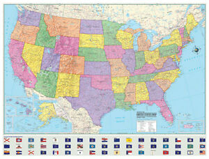 X Hammond United StatesUSUSA Large Wall Map Mural EBay - Large us wall map