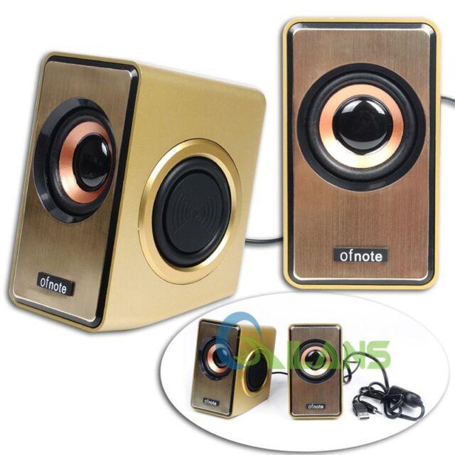 Ofnote USB2.0 Subwoofer Speaker Box Stereo Sound fr Laptop Notebook MP3/4 Home