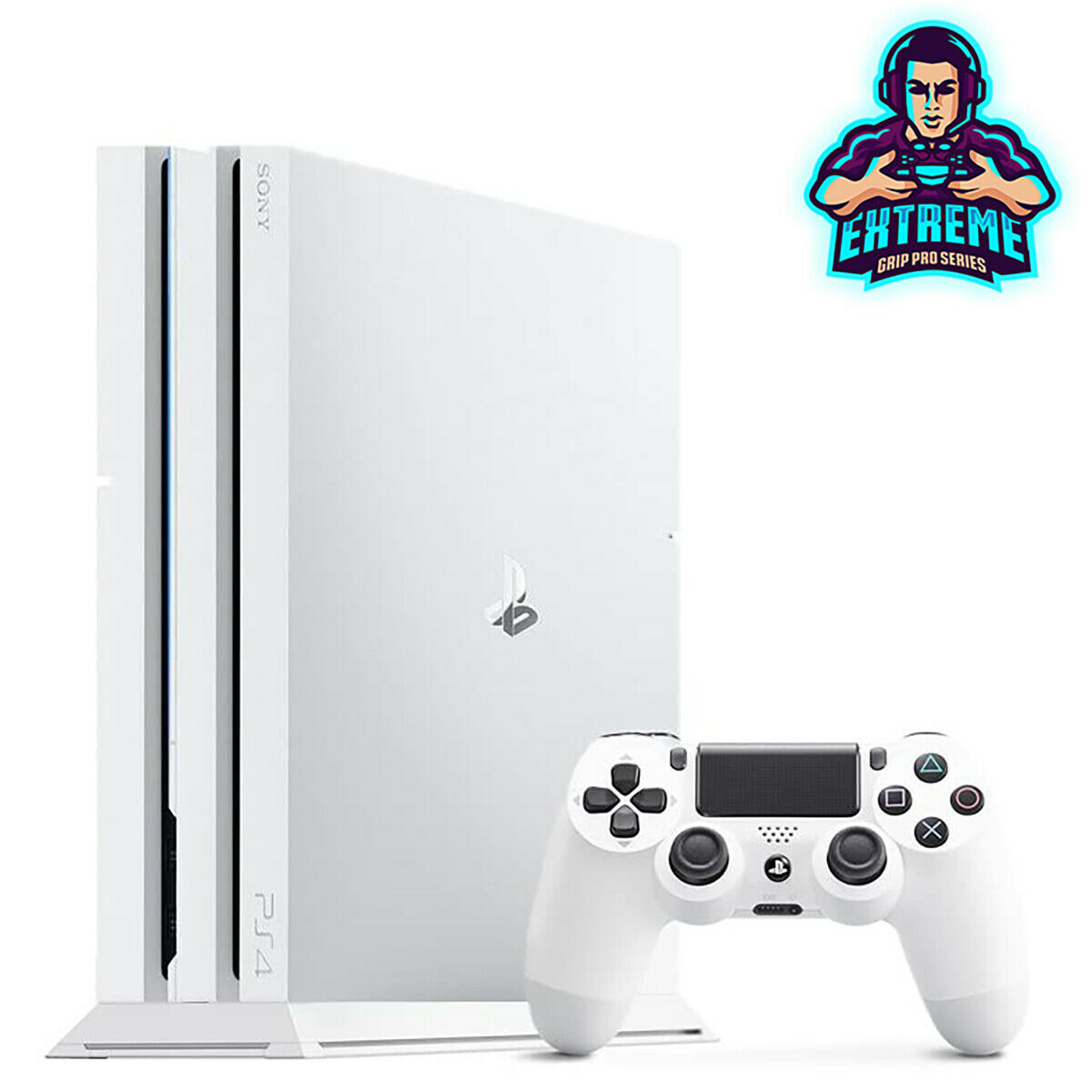 WHITE Vented Vertical Stand Dock Holder for Playstation 4 PS4 PRO Console