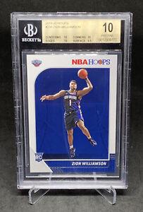 Zion-Williamson-2019-20-Panini-NBA-Hoops-BGS-10-PRISTINE-Rookie-Card-RC-258-PSA