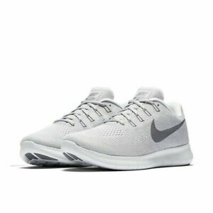 0e900915f8c61 Nike Free RN 2017 Running Shoes Wolf Gray White Black 880839-010 ...