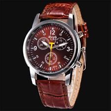 Luxus Mode Sport Herrenuhr Krokodil Faux Leder Analog Quarz Armbanduhren Watches