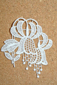 Flowers sew-on lace motif//applique//patch//craft//card making Dahlia