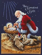 Janlynn Kneeling Santa Counted Cross Stitch Kit - 488488 for sale ...