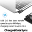miniature 5 - Right Angle 90 Degree Android Charger Fast Charging Micro USB Cable 3/ 6/ 10 Ft
