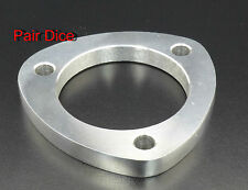 "3 1/2"" OD Exhaust 3 Holes 1/2"" Mild Steel FLANGE Pipe Collector Joint Cat-Back"