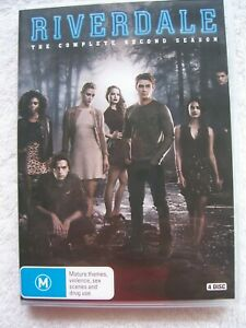 Riverdale-The-Complete-Second-Season-DVD-4-Disc-Set-EUC