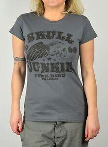 27210aa6eab ... Tee-shirt-femme-Vintage-Skull-Junkie-tete-de-