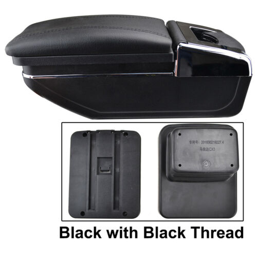 For Mazda CX-3 2015-2018 Storage Box Armrest Arm Rest Rotatable