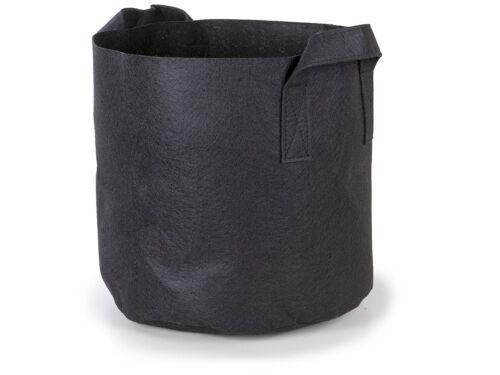 5Pcs//Pack Black Fabric Grow Pots Breathable Plant Bags Smart Plant w// Handle