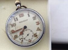 RARE VINTAGE MILITARY JEAGER LE COULTRE POCKET  WATCH