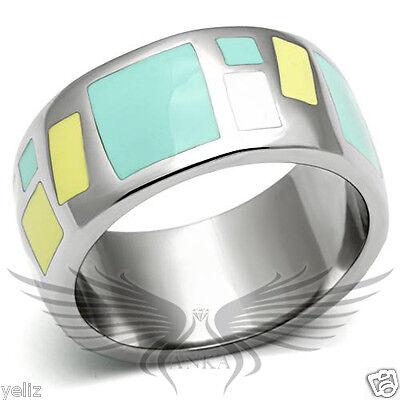 Elegant Design Epoxy Fashion Ring Band No Stone 5 6 7 8 9 10 TK505