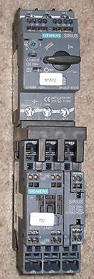 Siemens Sirius Contactor 3ZX1012-ORT22-1AA1  /&  Motor Starter 3RV2021-4CA10
