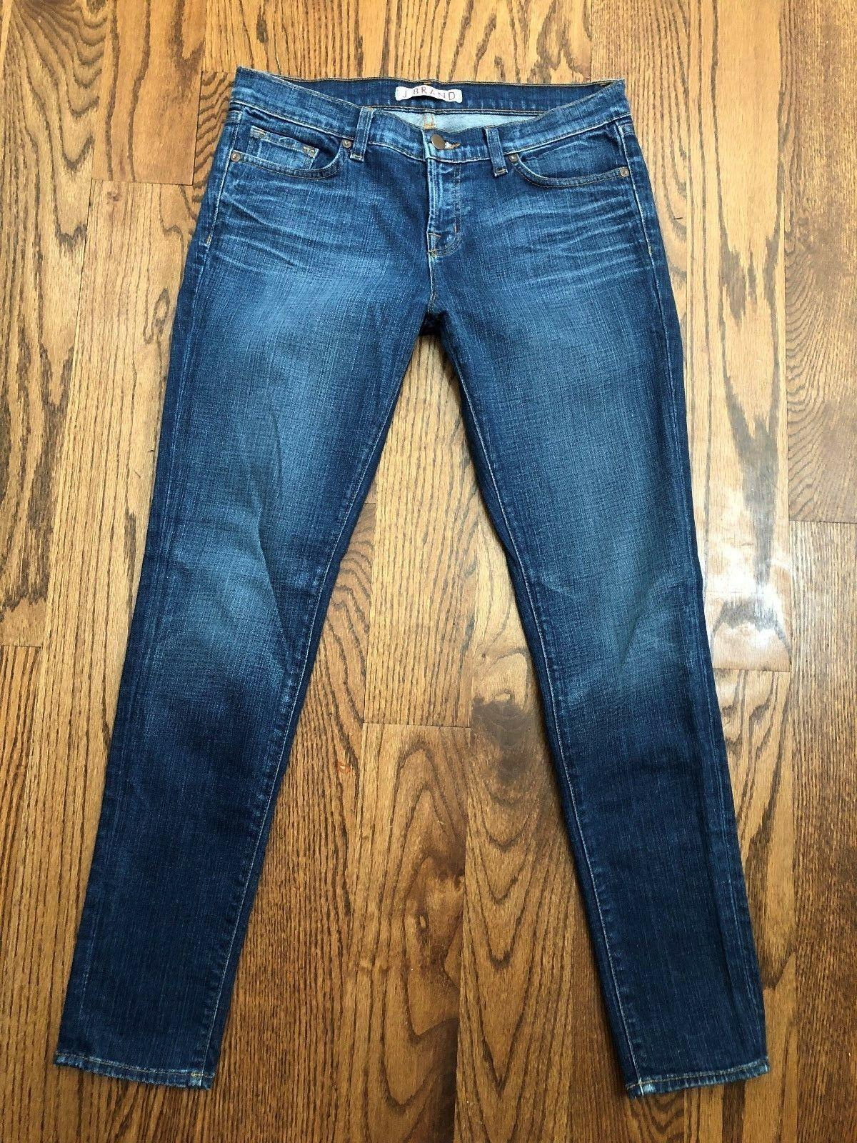 30 x 29.5 Women's J Brand 910 Bayou Skinny Leg Medium Wash Jeans