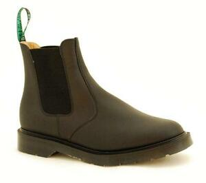 Herrlich Solovair Nps Shoes Made In England Black Greasy Chelsea Boot S084-0902bg
