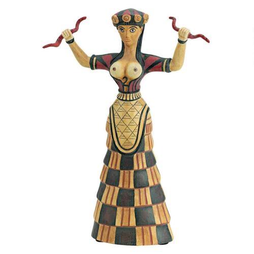 Legendary Sacred Minoan Snake Goddess Sculpture Replica