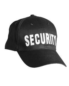 Mil-Tec-Baseball-Cap-SECURITY-Muetze-Baseballmuetze-Schirmmuetze-Schwarz