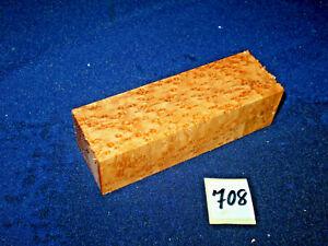 Vogelaugenahorn Maser Messergriffblock     120 x 40 x 30 mm      Nr: 708