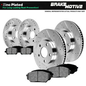 Front-Rear-Drill-Slot-Brake-Rotors-amp-Metallic-Pads-For-Expedition-Navigator-4WD