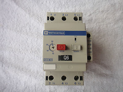 Telemecanique Manual Motor Starter  GV3-M40  w//Auxiliary Contact 6A GV1-A01