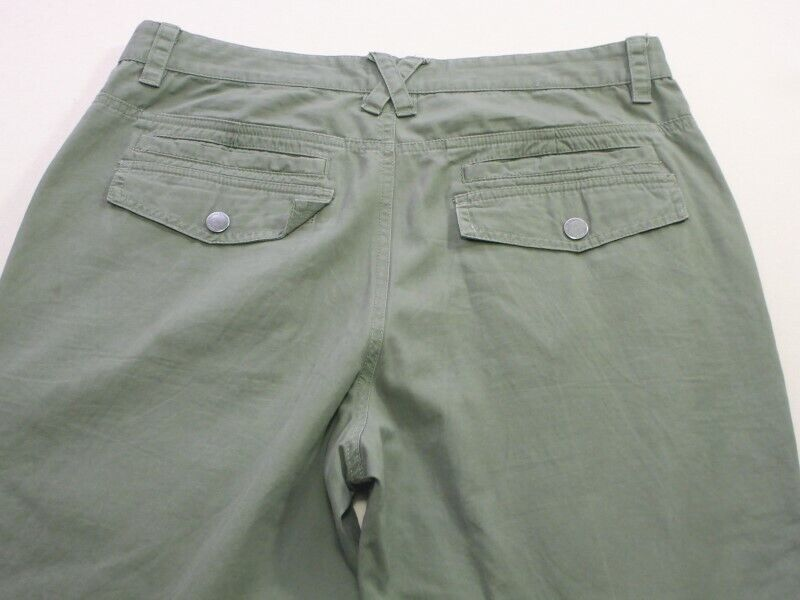 029 MENS EX-COND LONSDALE RELAXED FIT OLIVE CARGO PANTS SZE 36  RRP.