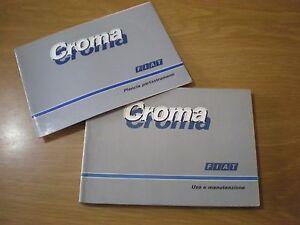 FIAT-CROMA-Giugno-1987-Libretto-Manuale-USO-e-MANUTENZIONE-In-Italiano-OTTIMO
