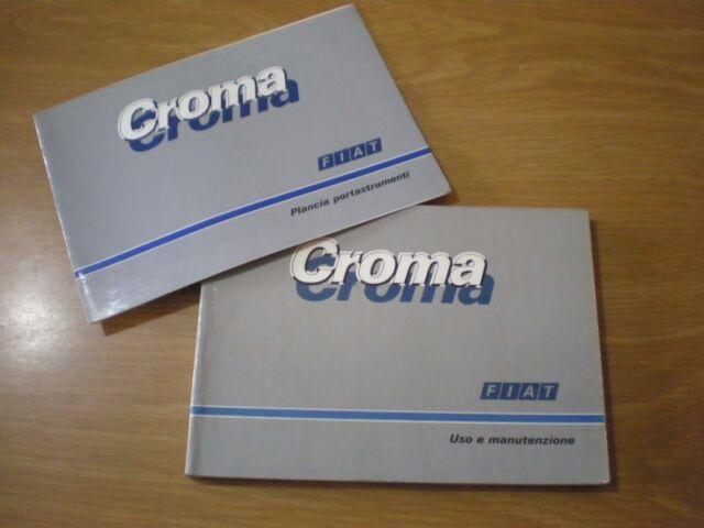 FIAT CROMA - Giugno 1987 Libretto Manuale USO e MANUTENZIONE In Italiano OTTIMO