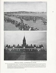 1897 Victorian Print Jubilee Celebrations Review At Sydney Illuminations Ottawa Art