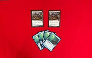 MTG-Modern-Blue-Black-Zombie-Infestation-Treasure-Hunt-Deck-Box-Sleeves-Magic