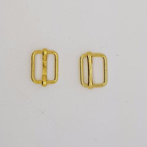 Gold Metal Sliding Bars Buckles Straps for Webbing Strap Tape Craft