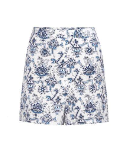 fondatrice Choo Shorts Jimmy Tamara di Blue Paisley 2 Silk Mellon 5x84I