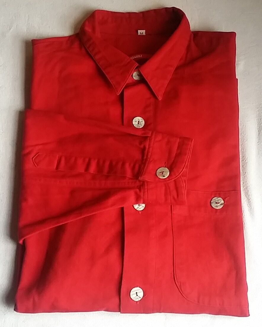2x SIGNUM Designerhemd Hemd Langarm M KW 38-40 brown   red BW 61 cm