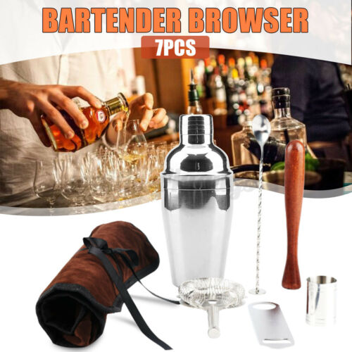 Cocktail Shaker Stainless Steel Mixer Drink Bartender Martini Tool Bar Set