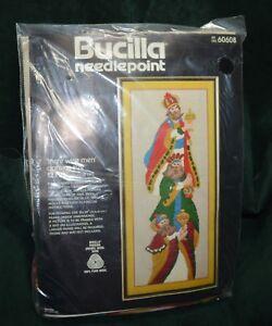 BUCILLA-Christmas-3-Wise-Men-NEEDLEPOINT-KIT-60608-vtg-sealed