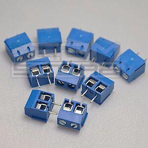 10-pz-morsetti-2-poli-H-10-Morsettiera-PCB-circuito-stampato-ART-AZ11