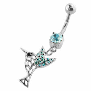 Aqua-Bird-Cut-Moving-Jeweled-Design-Navel-Ring