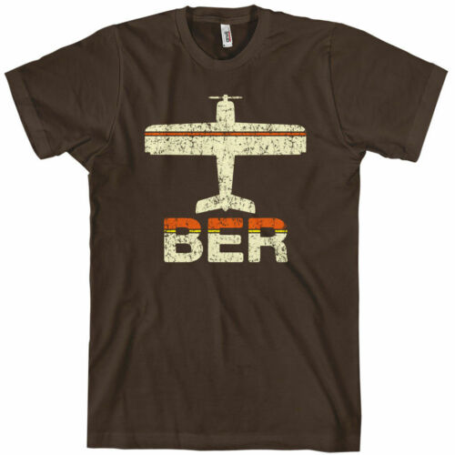 NEW XS-4XL Germany Deutschland Brandenburg FLY BERLIN T-shirt BER Airport