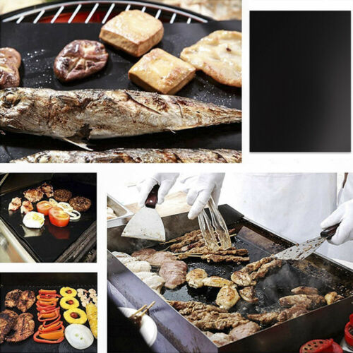 BBQ Grill Mat Non Stick Barbecue Baking Liners Reusable Cooking Sheet Bake Cook