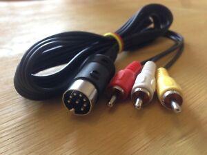 Cavo-Video-LCA-Luma-Chroma-Audio-8DIN-C64-128-Monitor-Commodore-1701-1702-1084S