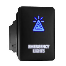 Emergency Lights Bluewhite Backlit Short Push Button 128x 087 Fit Toyota