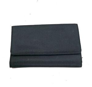 EUC-Woman-039-s-Tri-Fold-Black-Wallet-6x4x1-inches