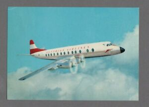 AUSTRIAN-AIRLINES-VICKERS-VISCOUNT-837-VINTAGE-AIRLINE-ISSUE-POSTCARD