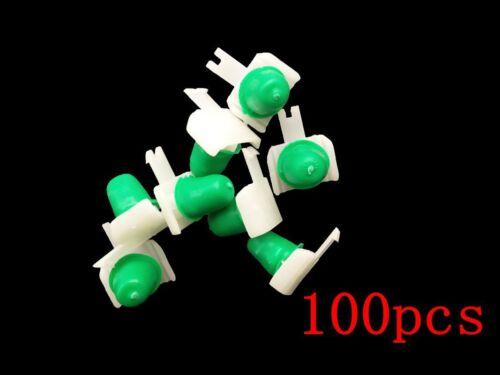 100 Moulding Clip Retainer White Nylon W// Rubber Grommet For VW Passat 1998-2005