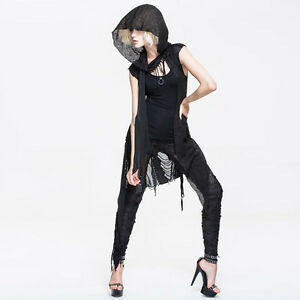 Devil-Fashion-CA006-Black-Gothic-Punk-Visual-Kei-sleeveless-Hooded-Cardigan-Tops