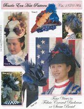 Ladies Victorian 1870-80s Bustle Era Hat - 4 Views Lynn McMasters Sewing Pattern