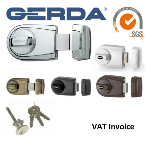 Gerda High Quality Surface Mounted Door Lock 3 Keys 5 Colours ZG100//ZG100S