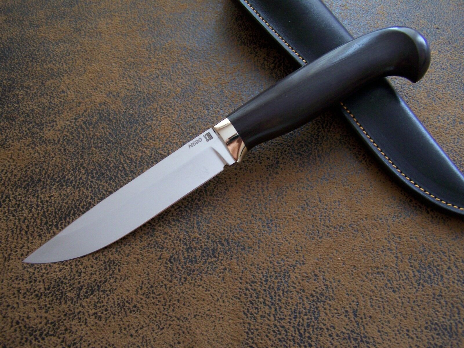 D. Uldanov Custom Messer Exklusives Jagd    Outdoormesser N690 Böhler St. 61-HRC  | Schöne Kunst